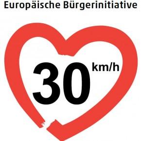 """""""30 km/h - macht die Straßen lebenswert!"""""""
