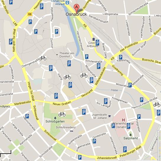 Karte erstellt mit Google Maps