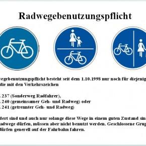 """Flyer """"Radwegebenutzungspflicht"""""""
