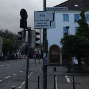 Nicht hier entlang, Radfahrer!