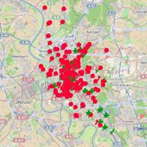 Düsseldorf: Karte des Grauens