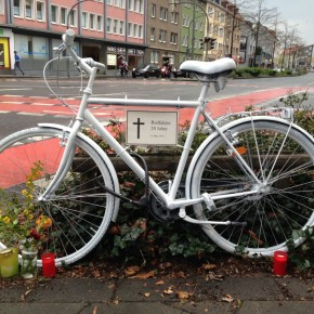 Erstes Ghost Bike in Osnabrück