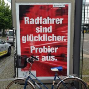 Radfahrer sind glücklicher