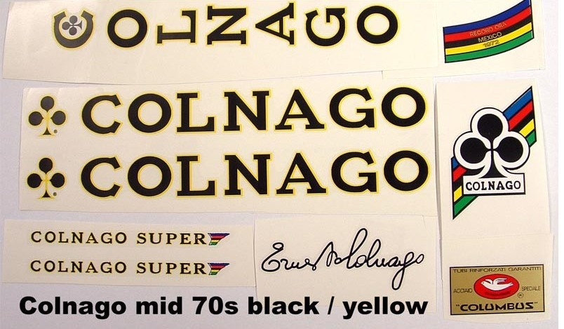 Colnago decals