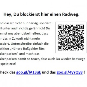 Flyer zur Bußgeld-Petition