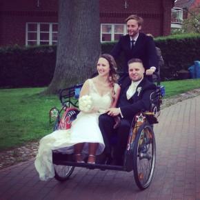 Hochzeit auf drei Rädern