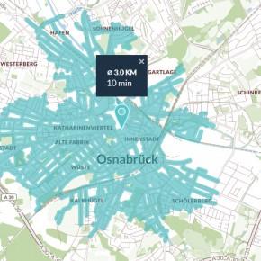 5 Minuten Radfahren in Osnabrück