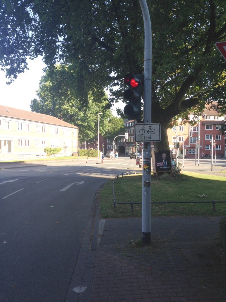 Münster Ampel Radfahrer frei