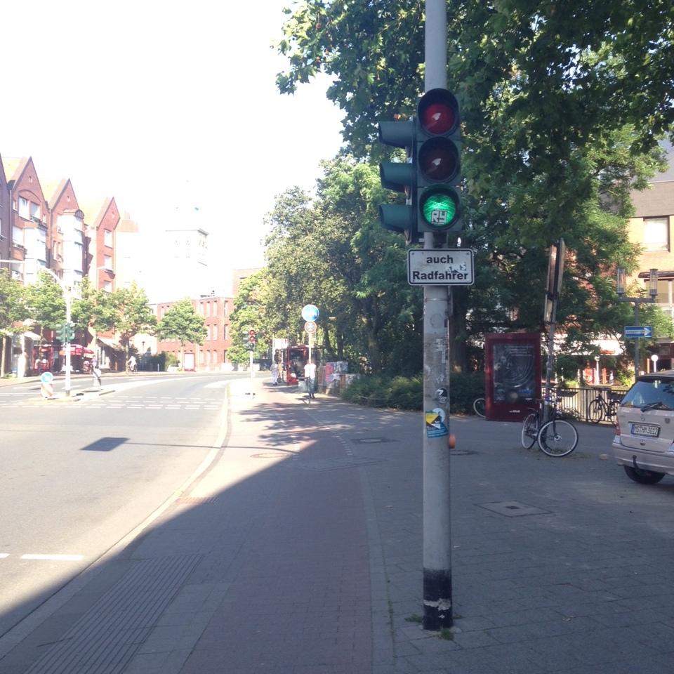 Münster Ampel auch Radfahrer