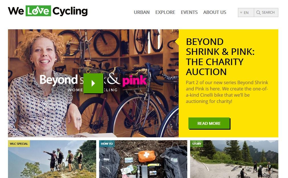 Skoda setzt einen eigenen Fahrradblog auf, um modern zu wirken. Verkauft aber natürlich weiterhin Autos... Screenshot: welovecycling.com