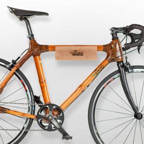 Fahrradhalterung aus Bambus