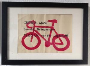 Die erste dokumentierte Critical Mass in Osnabrück fand vor genau 6 Jahren statt. Der Flyer hängt bei mir natürlich gerahmt!