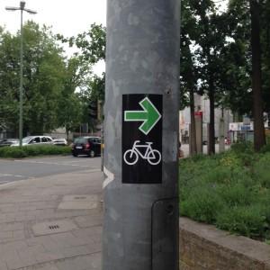 So könnte ein Schild aussehen. Guerilla-Aktion in Osnabrück.
