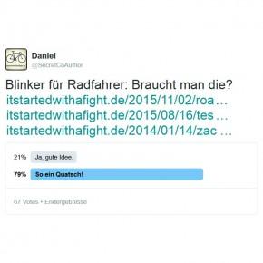 Twitter-Umfrage: Blinker für Fahrräder