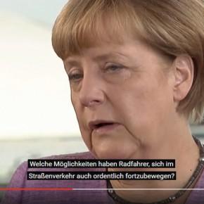 Merkel für Stärkung des Radverkehrs