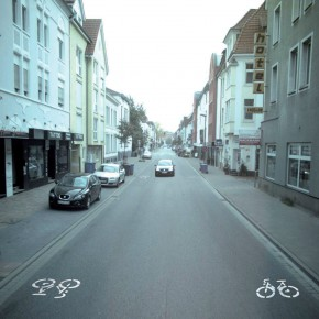 Sharrows in Osnabrück