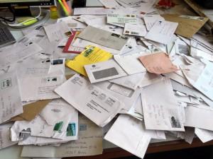 Posteingang mit Unterschriftenlisten. Foto: Volksentscheid Fahrrad