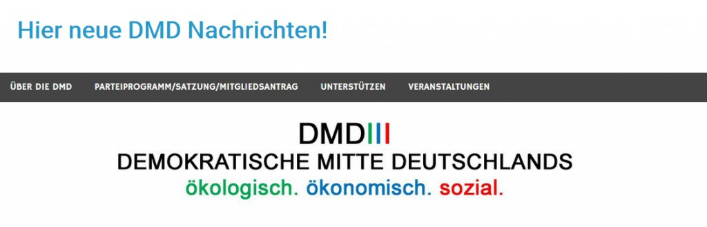 Screenshot dmd-partei.info (29. Juni 2016)