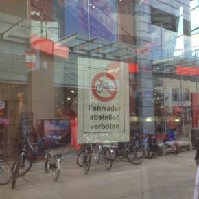 Parkverbot für Fahrräder?