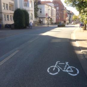 Bundesweites Forschungsprojekt befasst sich mit Sharrows in Osnabrück