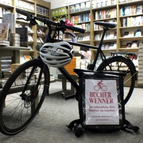 Buchhandlung Wenner liefert künftig mit dem Fahrrad
