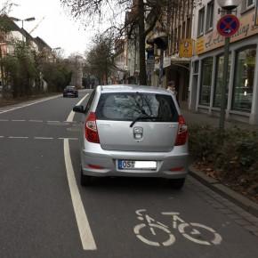 Als Radwegparker hat man kaum etwas zu befürchten