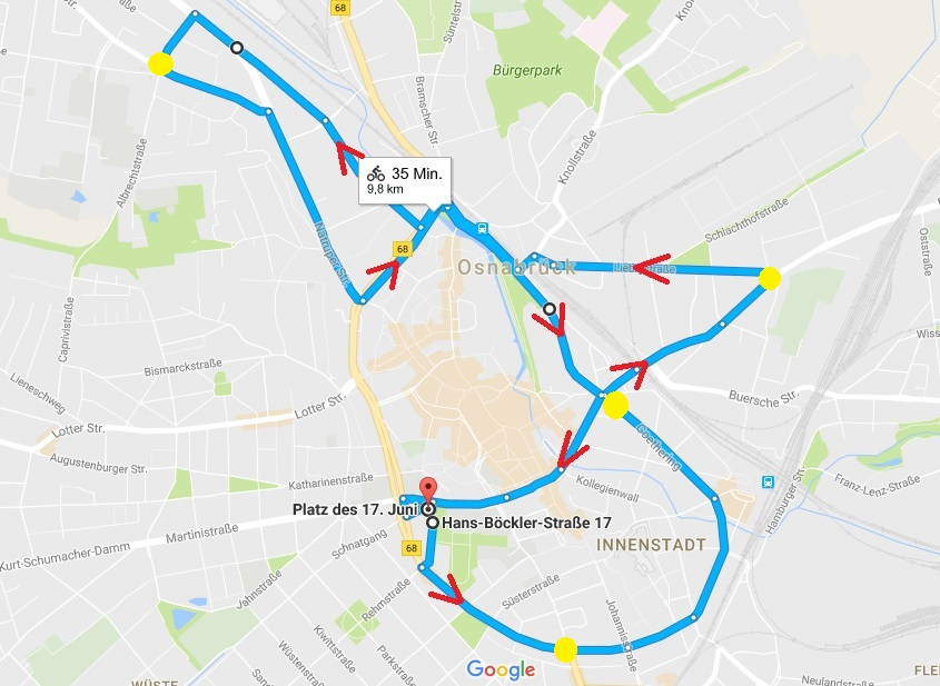 Route Ride of Silence 2017