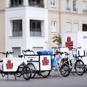 Lastenräder reduzieren Fahrten mit Pkw und Lieferfahrzeugen
