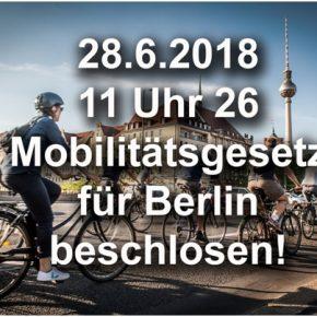 Habemus Mobilitätsgesetz! Quo vadis Radentscheid?