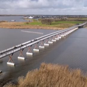 Die längste Fahrradbrücke Europas