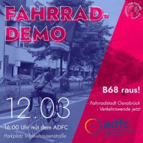 Fahrraddemo gegen LKW in Osnabrück