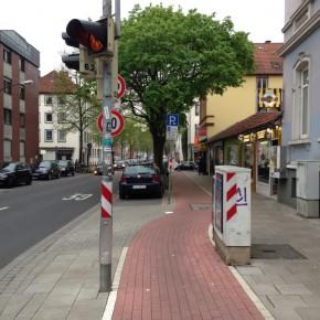 Osnabrück: Radwegebenutzungspflicht an der Rehmstraße