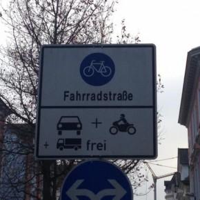 Fahrradstraße ≠ Fahrradstraße