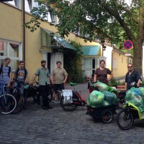Mit Lastenrädern gegen Plastikmüll