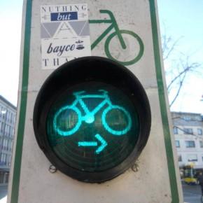 Grünpfeil für Radfahrer in Ulm