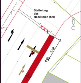 Sicherheit: Staffelung von Haltelinien