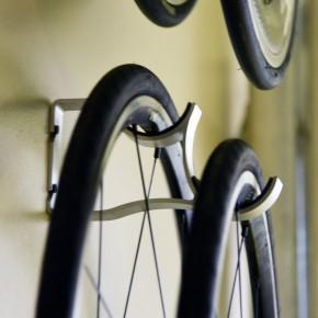 Offset-Bicycle Wheel Storage