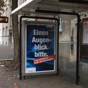 Neue Plakate in der Stadt