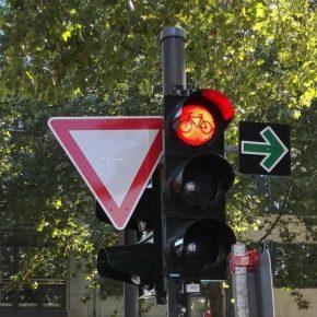 Grünpfeil für Radfahrer in Köln