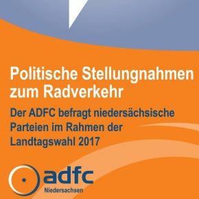 ADFC-Wahlprüfstein zur Landtagswahl Niedersachsen