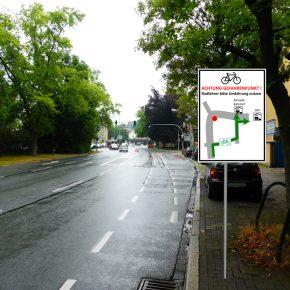 Stadt entfernt Radfahrstreifen, um Sicherheit zu erhöhen