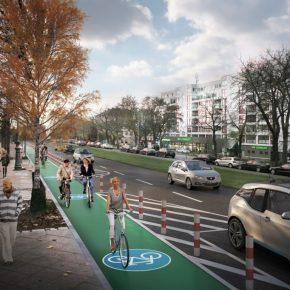 So sehen die geplanten geschützten Radwege in Berlin aus