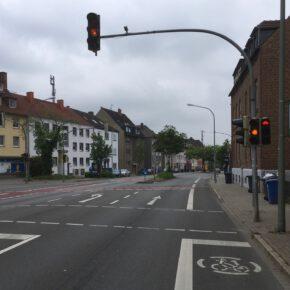 Ein kleines Versäumnis beim Grünpfeil für Radfahrer